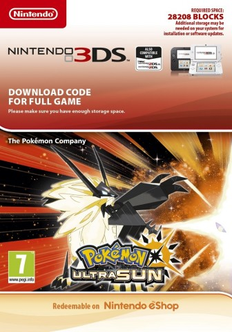Pokemon Ultra Sun - eShop Code