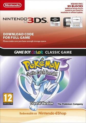 Pokemon Crystal Version - eShop Code