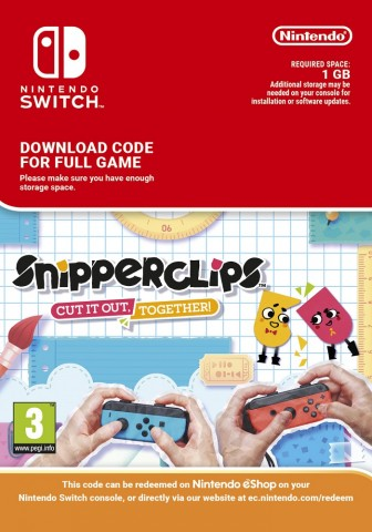 Snipperclips: Cut it out, together! - eShop Code