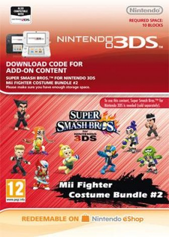 Super Smash Bros. for 3DS - Mii Fighter Costume Bundle #2 - eShop Code