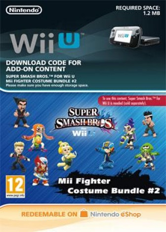 Super Smash Bros. for Wii U - Mii Fighter Costume Bundle #2 - eShop Code