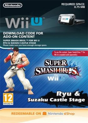 Super Smash Bros. for Wii U - Ryu & Suzaku Castle Stage - eShop Code