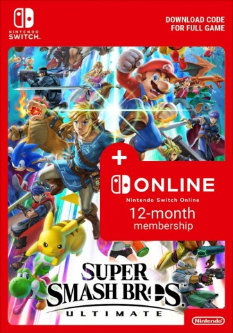Super Smash Bros. Ultimate + 365 Days Nintendo Switch Online - eShop Code Bundle