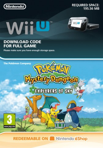 Pokémon Mystery Dungeon: Explorers of Sky - eShop Code
