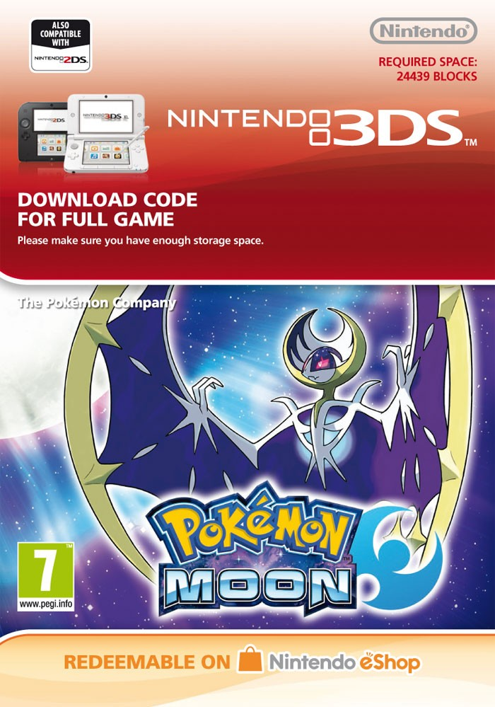 Purchase Pokemon Moon - eShop Code official and download right away